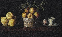 still life with lemons, oranges and a rose, after francisco zurbaran [from pictures of magazines (still life) by vik muniz